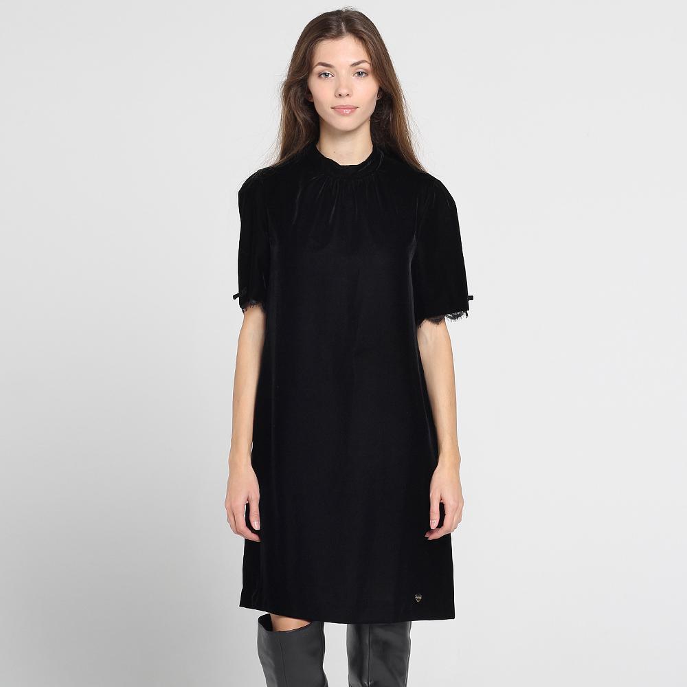 Велюровое платье Blugirl Blumarine с отделкой кружевом