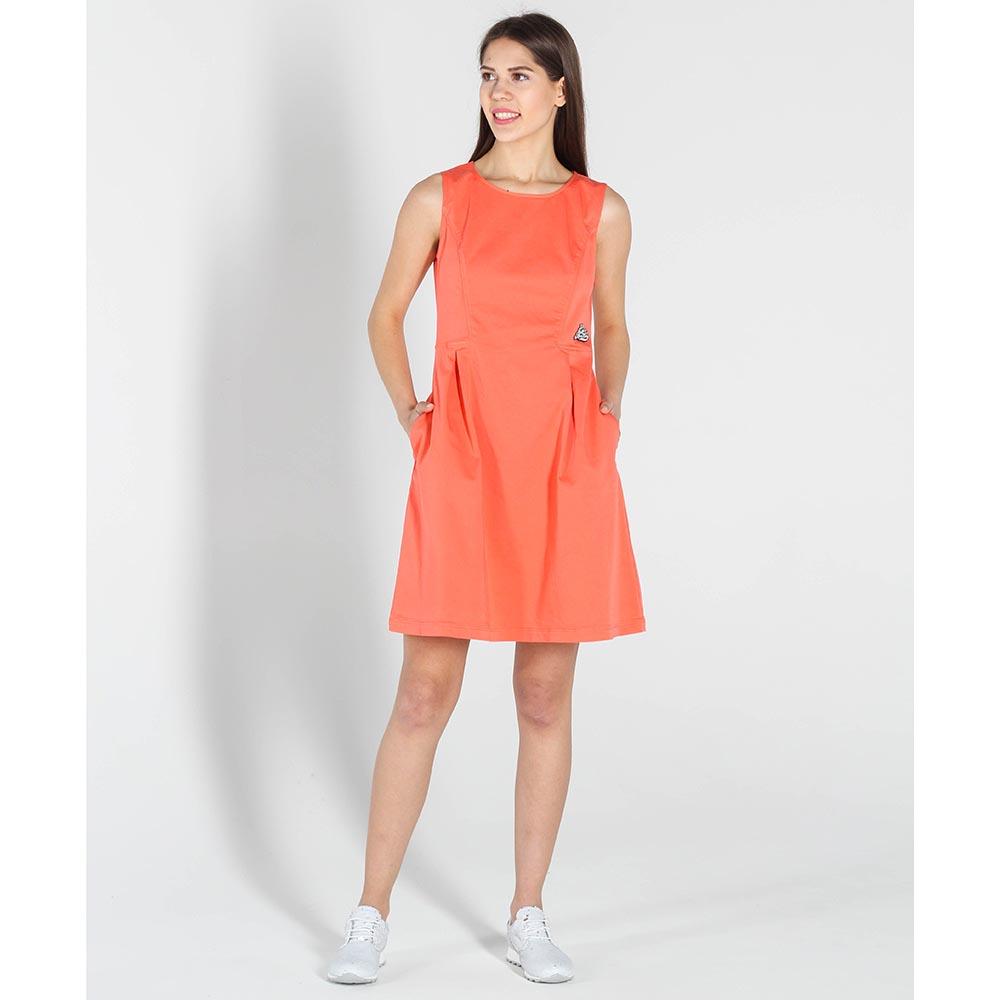 Платье без рукавов Love Moschino оранжевого цвета