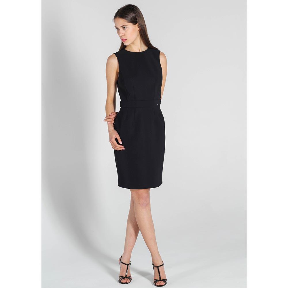 Платье-футляр Elisabetta Franchi черного цвета