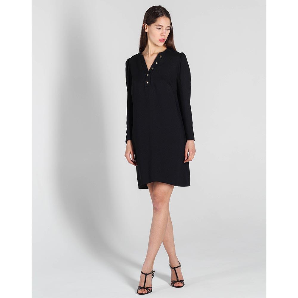 Платье Elisabetta Franchi прямого кроя с длинным рукавом