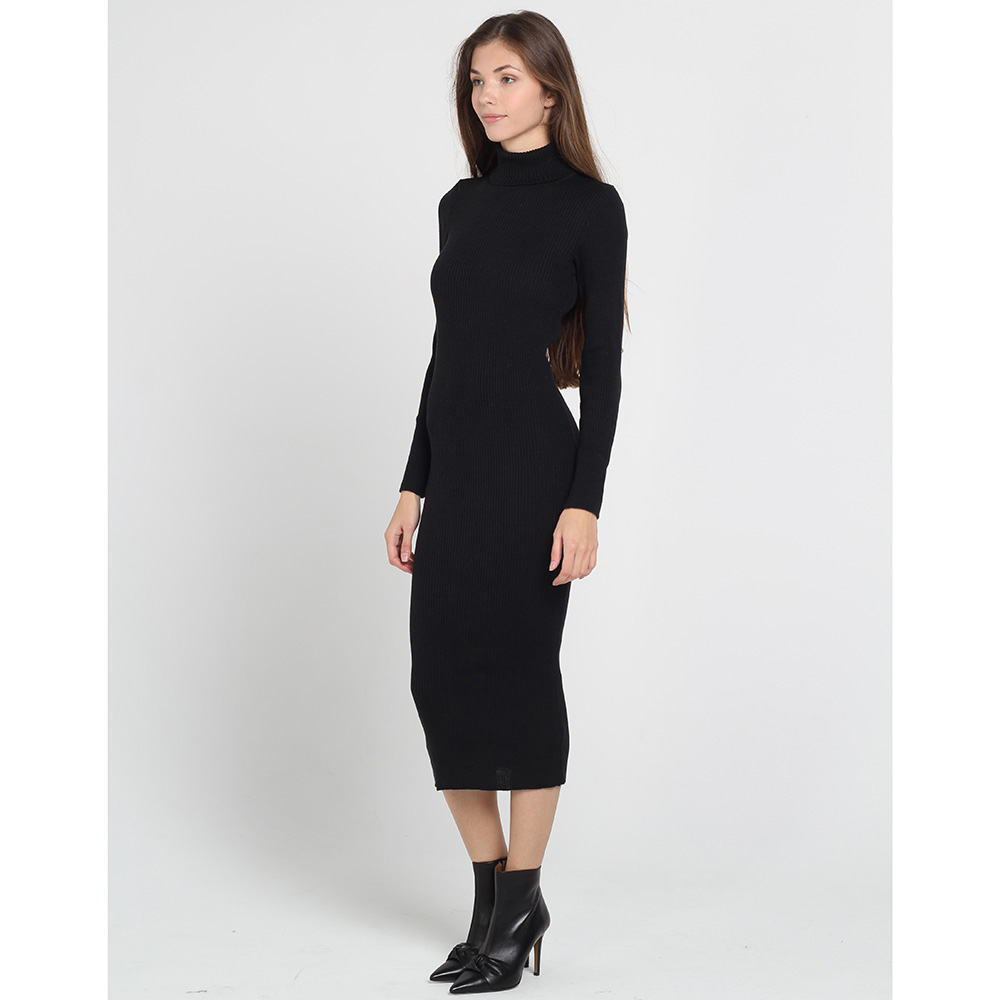 Трикотажное платье-миди Nit.ka черного цвета