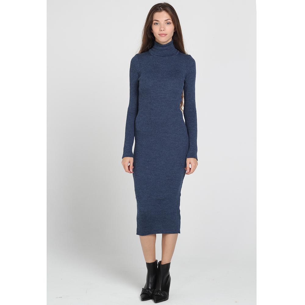 Трикотажное платье-миди Nit.ka синего цвета
