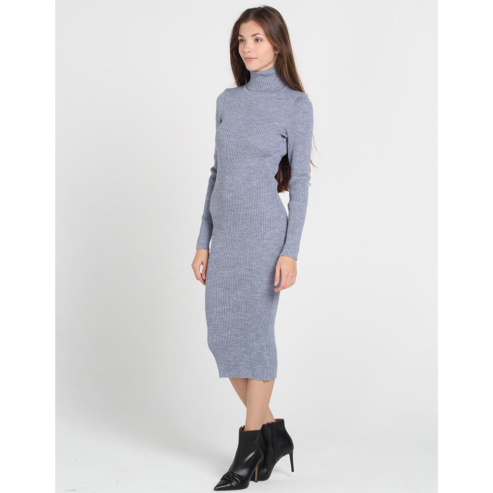 Серое трикотажное платье-гольф Nit.ka