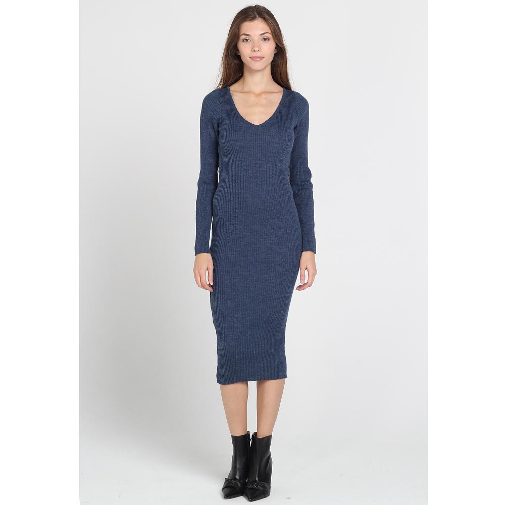 Трикотажное облегающее платье-миди Nit.ka синего цвета