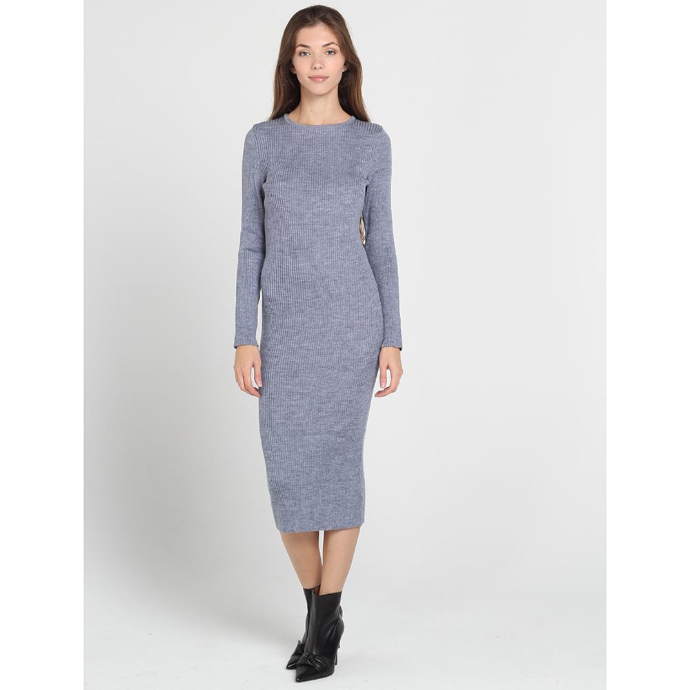 Трикотажное облегающее платье-миди Nit.ka серого цвета