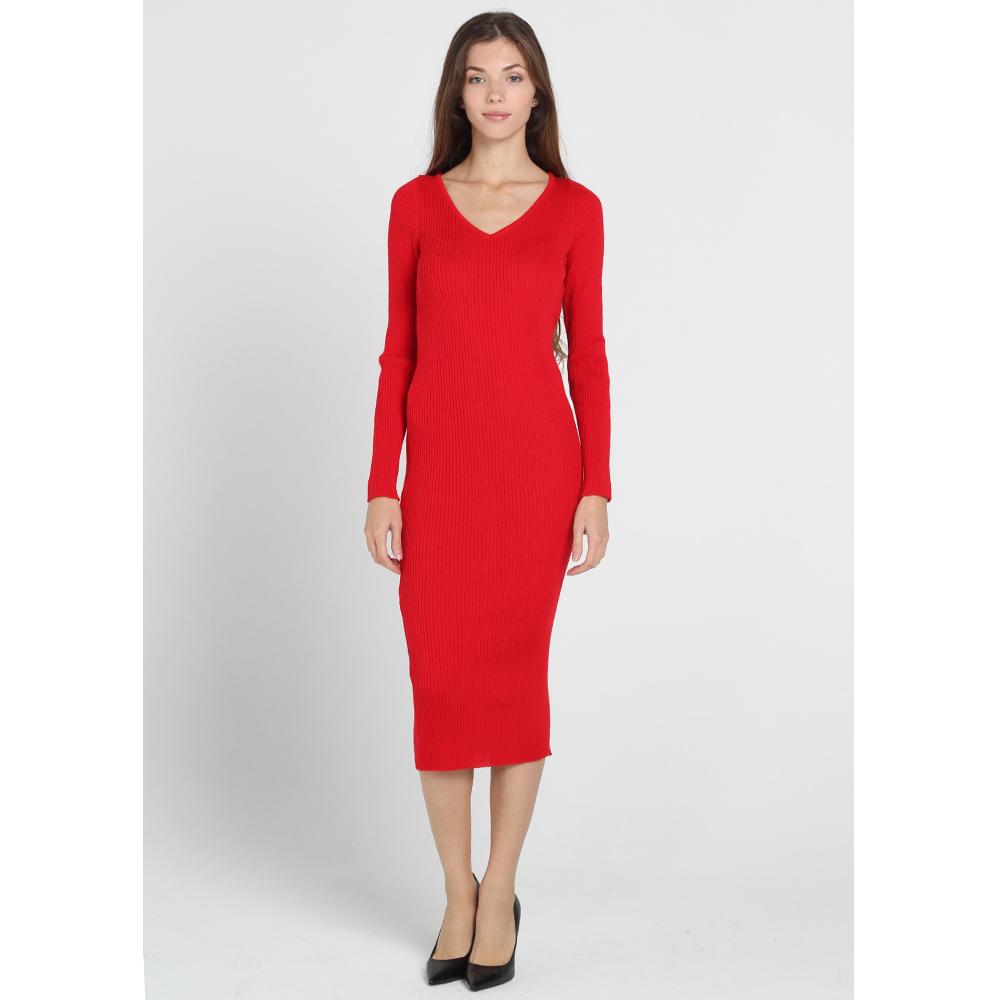 Трикотажное облегающее платье-миди Nit.ka красного цвета
