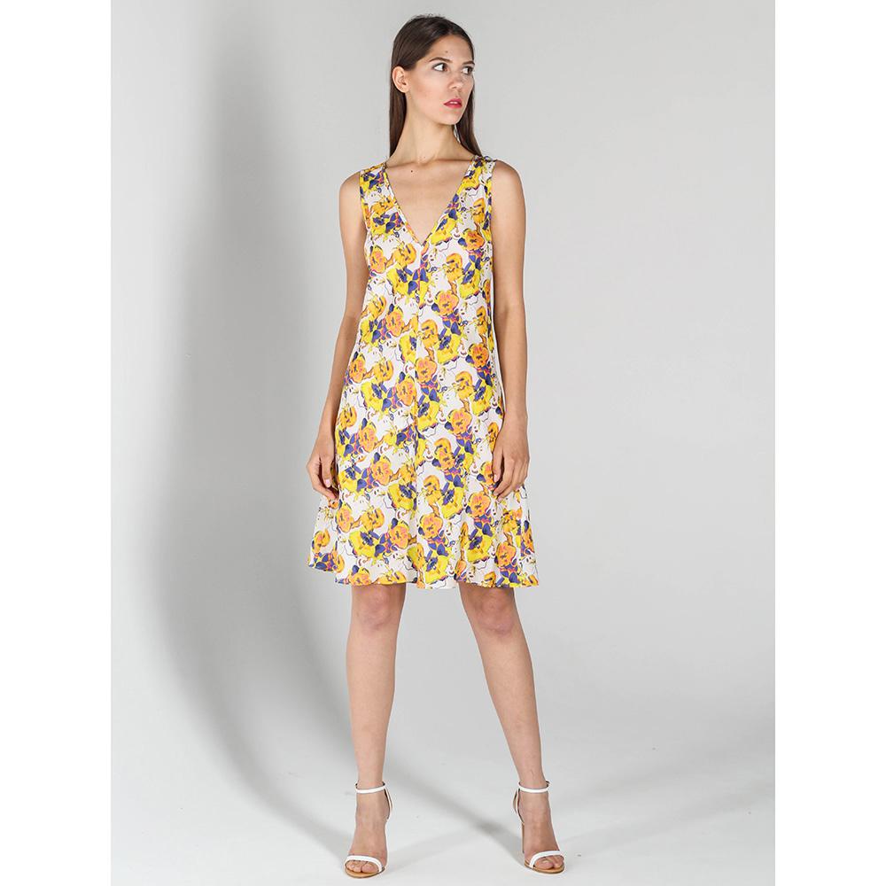 Шелковое платье P.A.R.O.S.H. с цветочным принтом