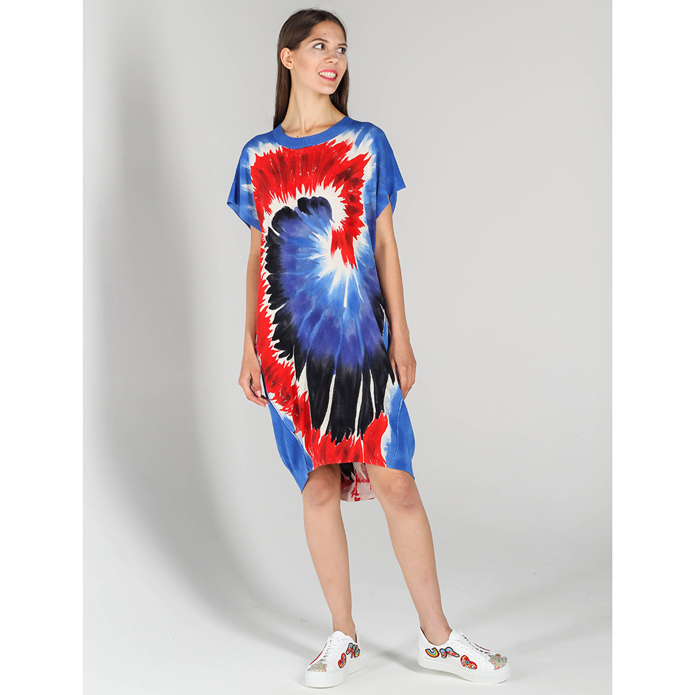 Платье P.A.R.O.S.H. с абстрактным принтом