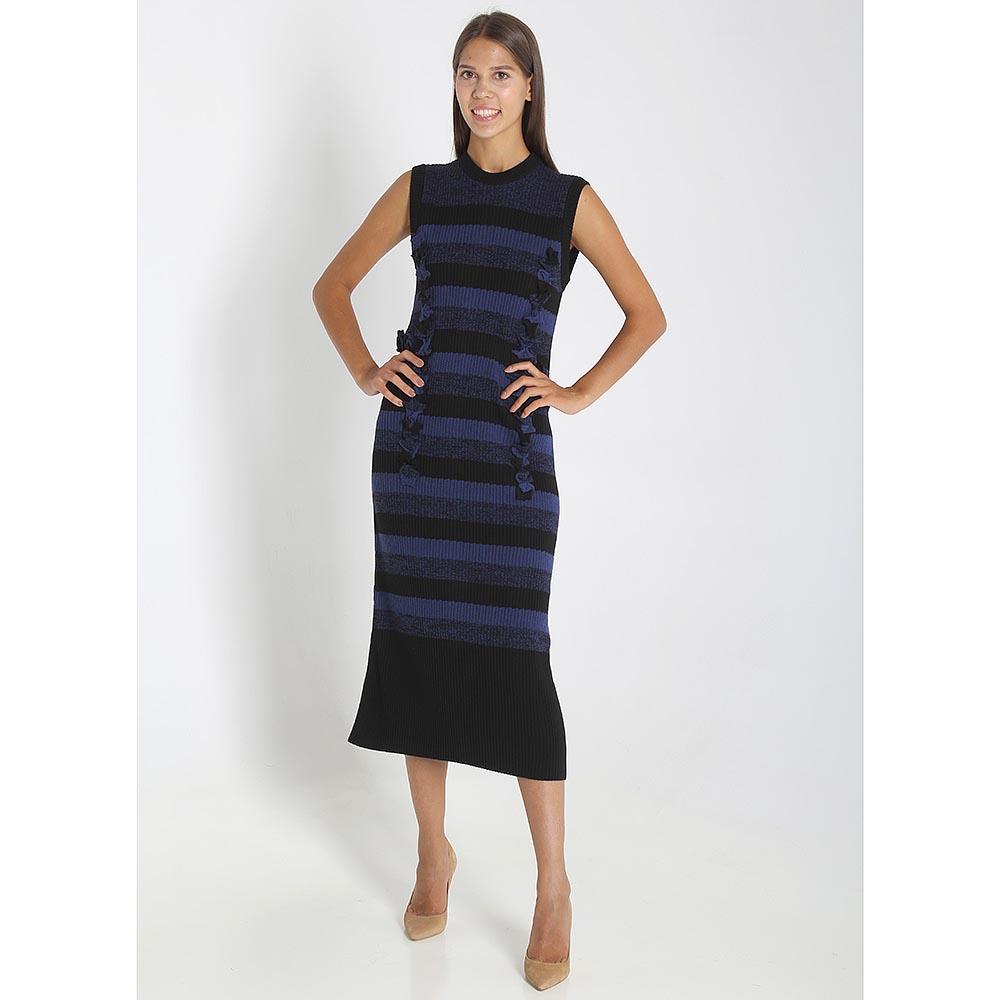 Трикотажное платье-миди Maison Margiela в синюю полоску