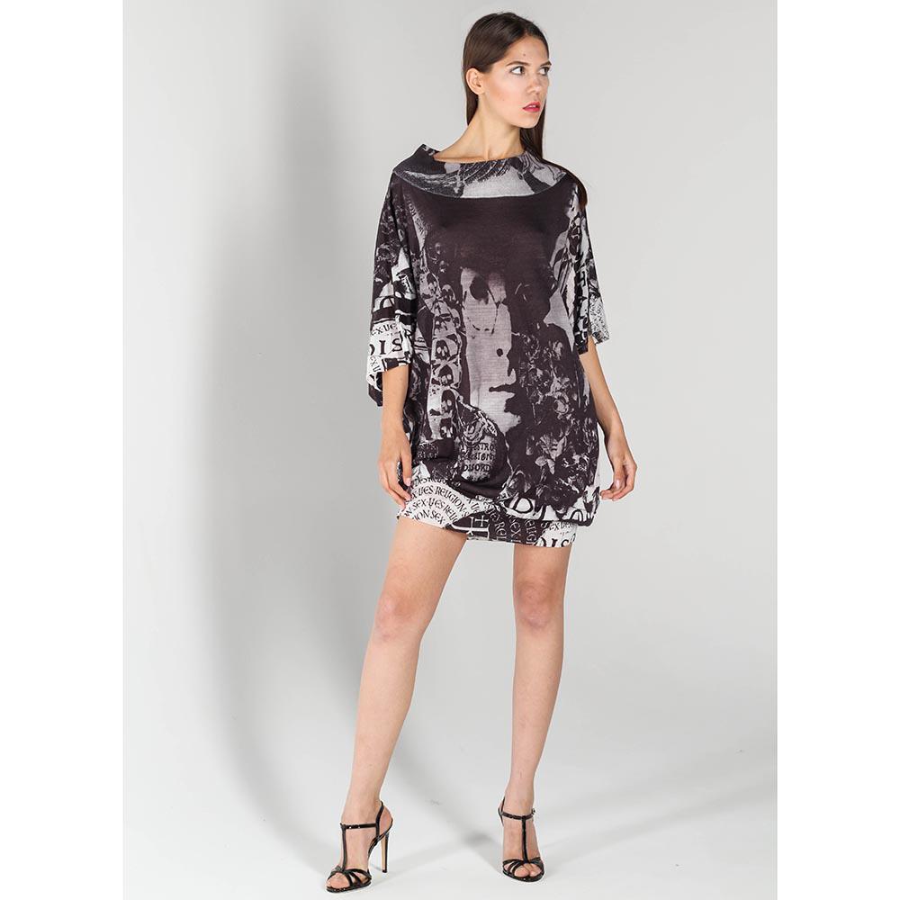 Платье оверсайз John Richmond с абстрактным принтом