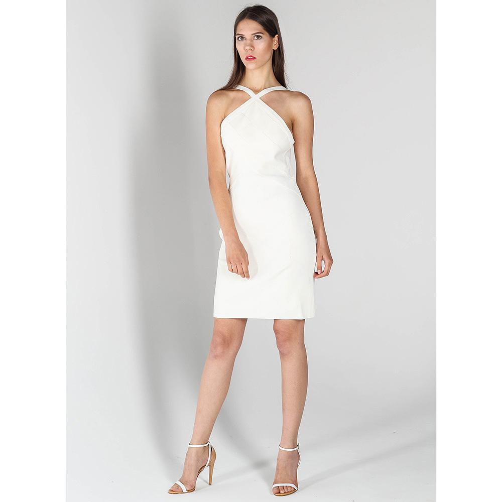 Платье-футляр John Richmond белого цвета