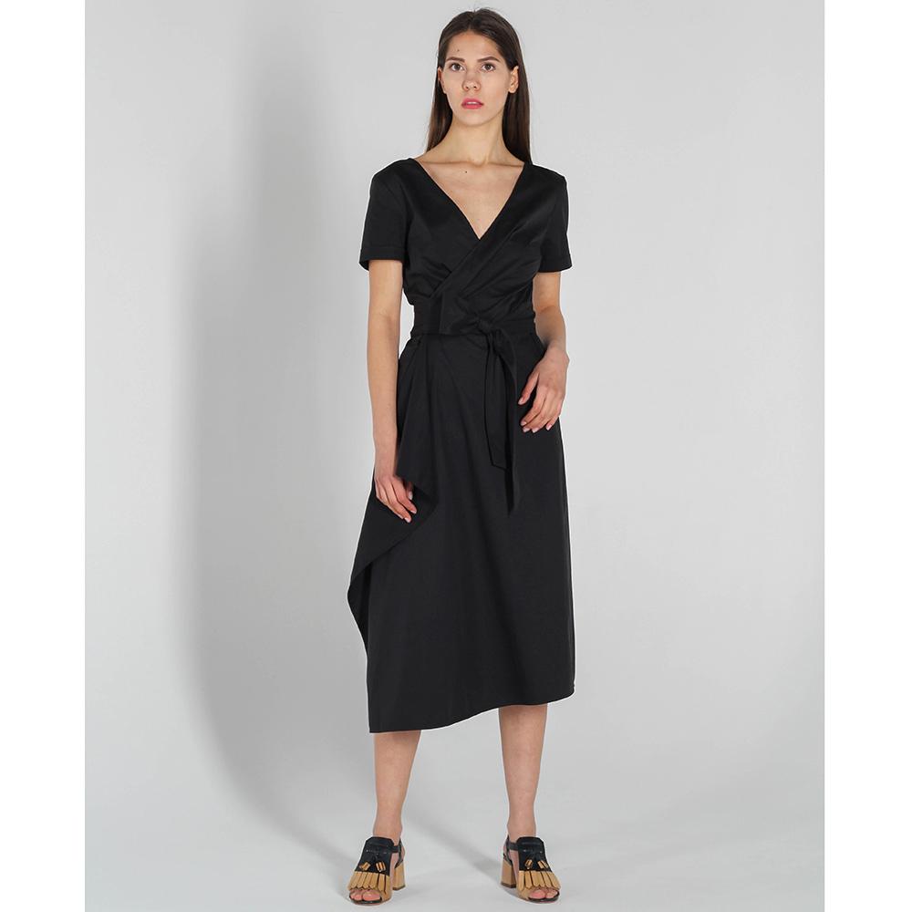 Платье Vigio с асимметричной юбкой черного цвета