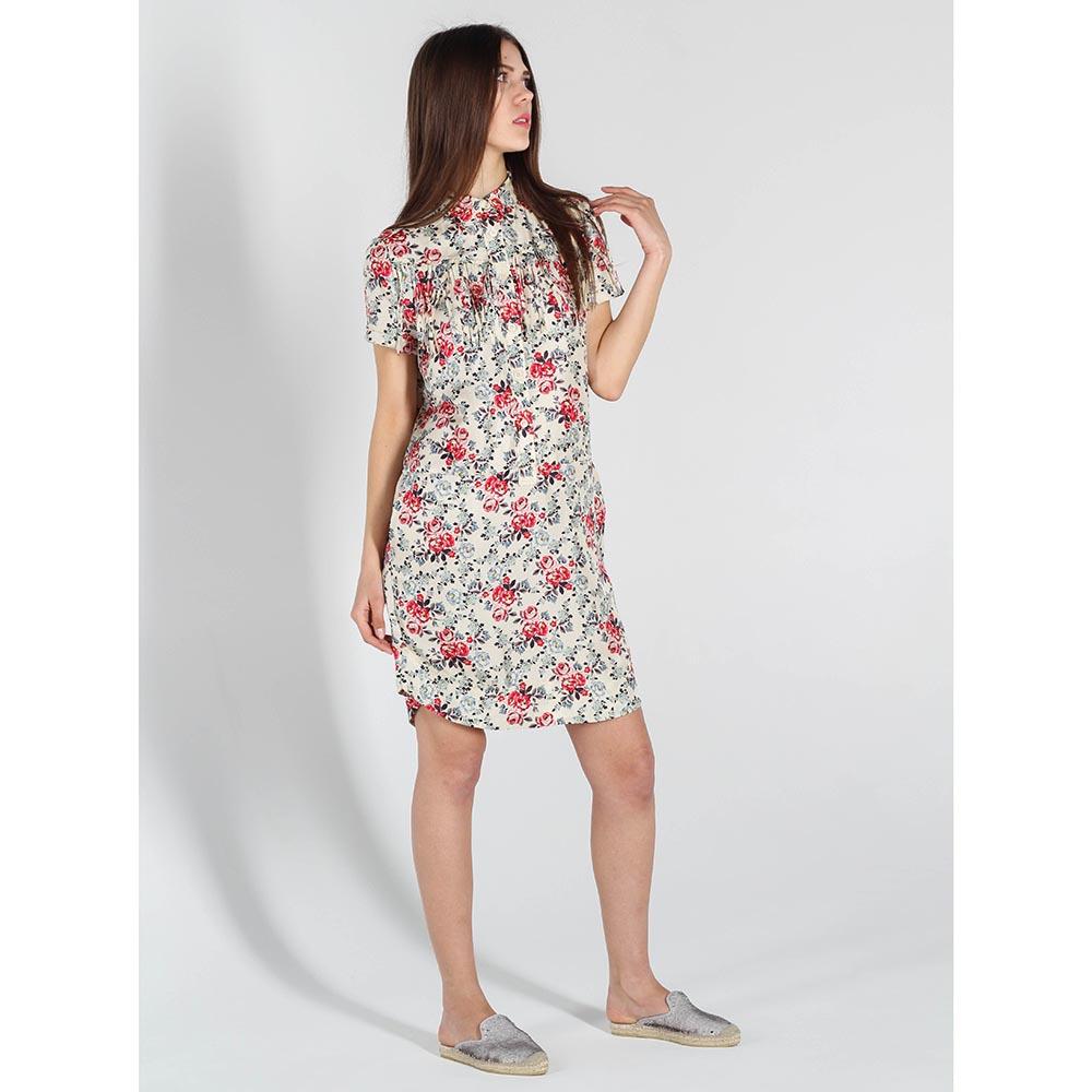 Шелковое платье-рубашка Zadig Voltaire с цветочным принтом и бахромой