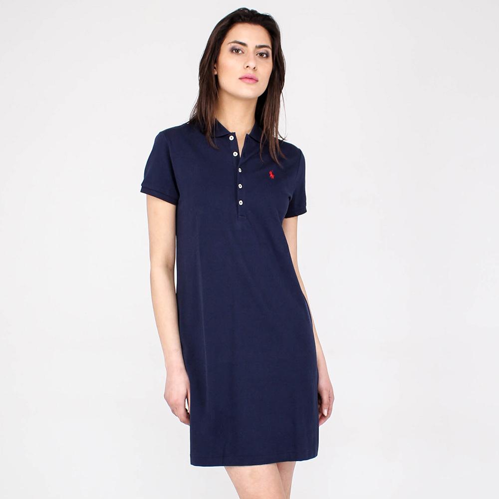 Платье-рубашка Polo Ralph Lauren синего цвета
