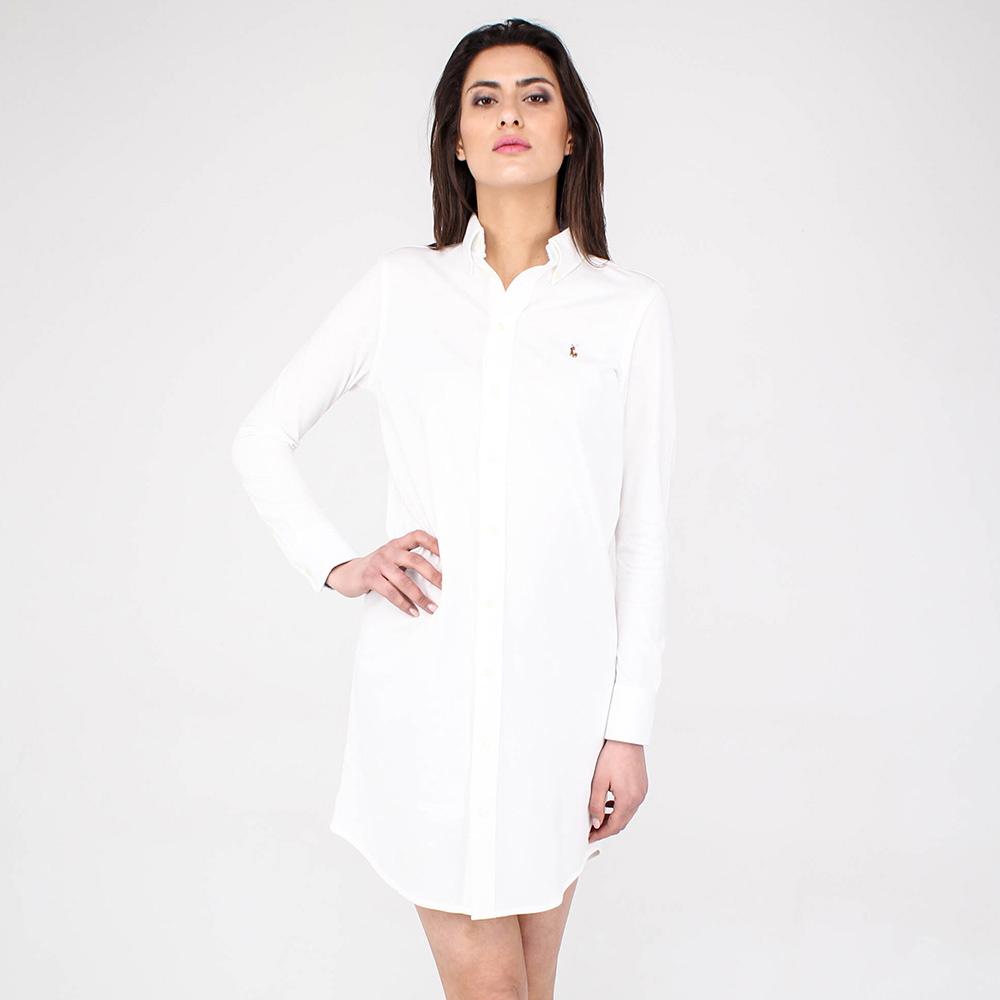 Платье на пуговицах Polo Ralph Lauren белого цвета
