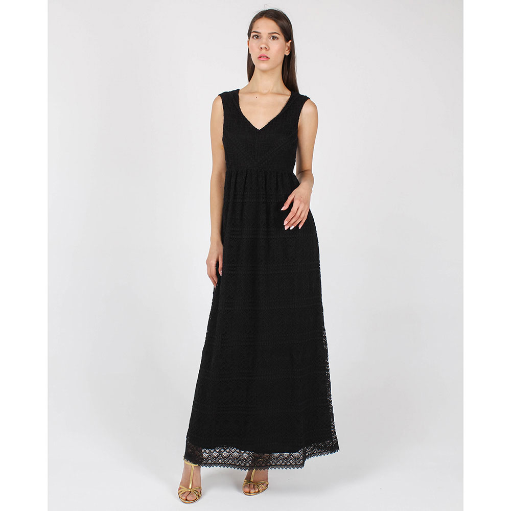 Кружевное платье-сарафан Red Valentino черного цвета