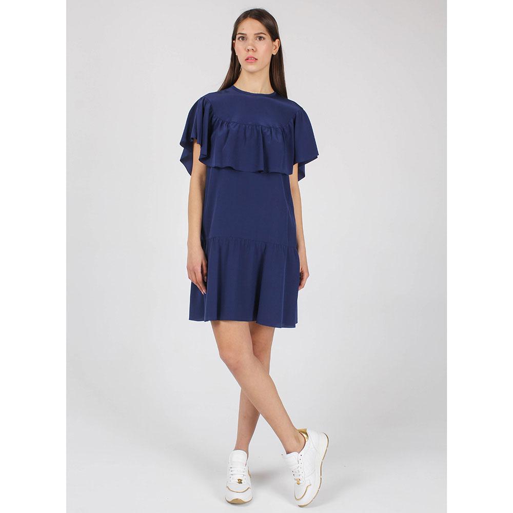 Синее платье Red Valentino с воланами