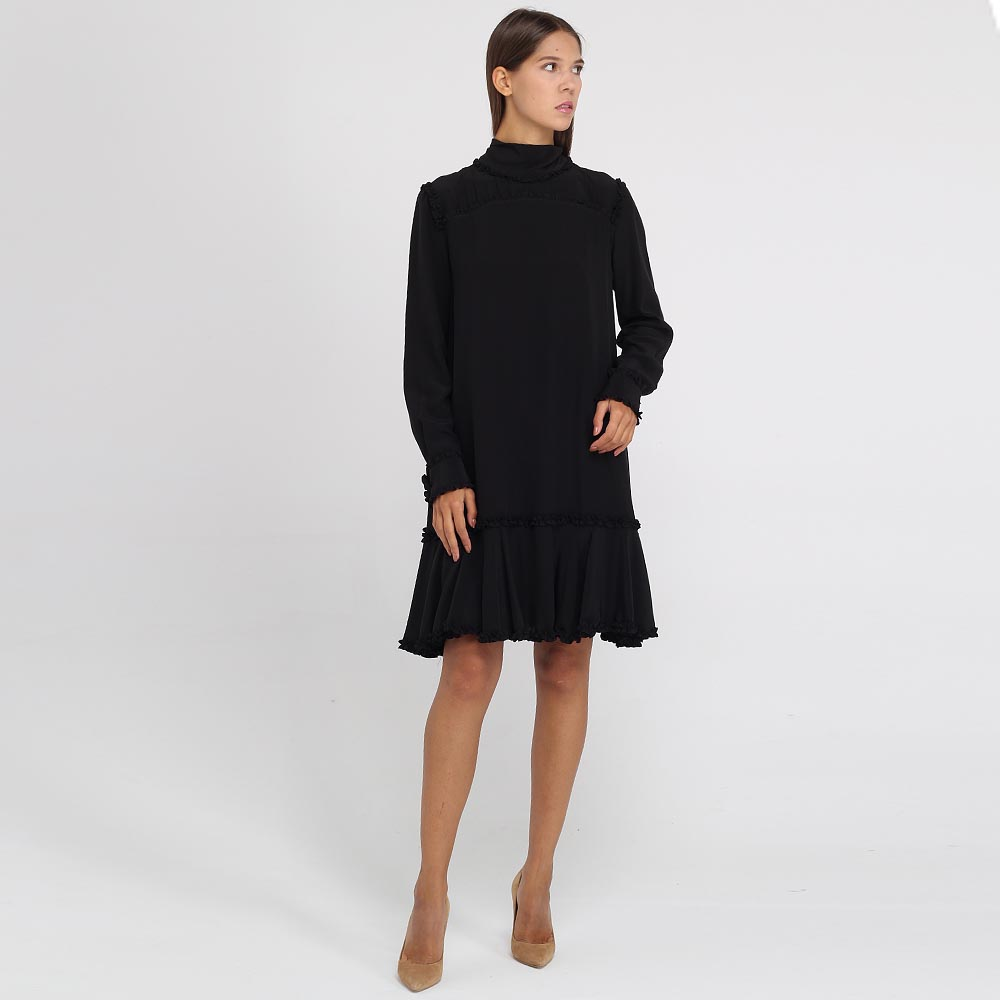 Шелковое платье Ermanno Scervino с воланами