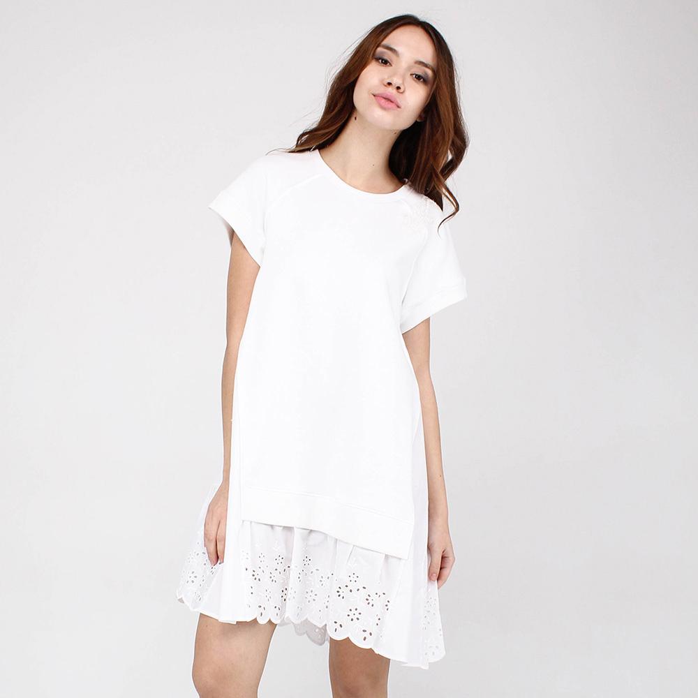 Трикотажное платье Red Valentino белого цвета