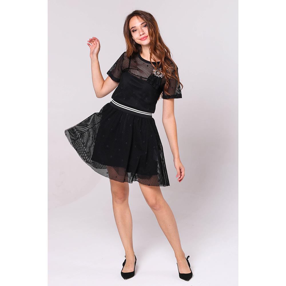 Черное платье Red Valentino с пышной юбкой до колен