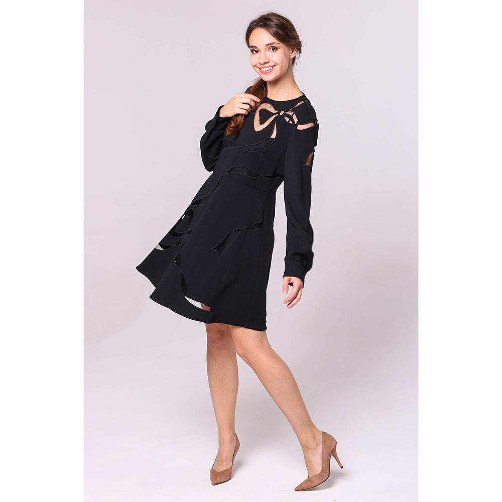 Платье Red Valentino с декором-бантом черного цвета
