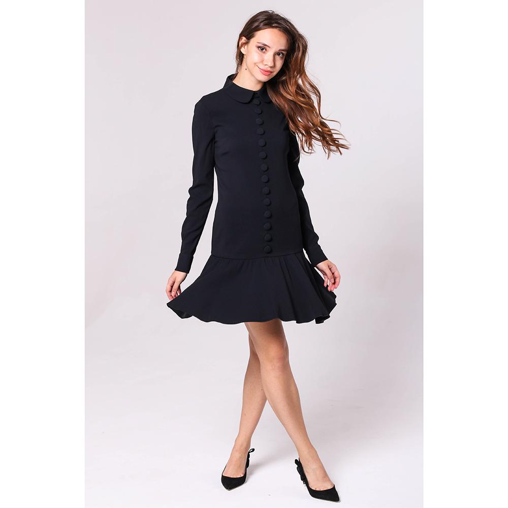 Черное платье Red Valentino с декором-пуговицами