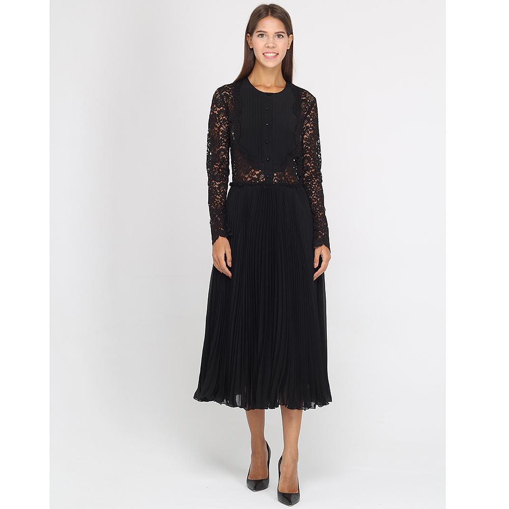 Платье-миди Ermanno Ermanno Scervino с плиссированной юбкой и кружевным верхом
