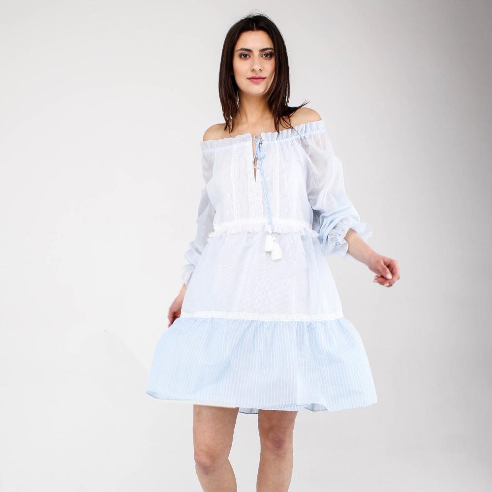 Платье Ermanno Scervino в мелкую полоску