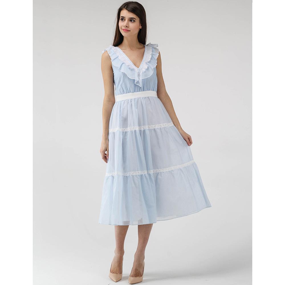Платье Ermanno Scervino голубого цвета с пышной юбкой