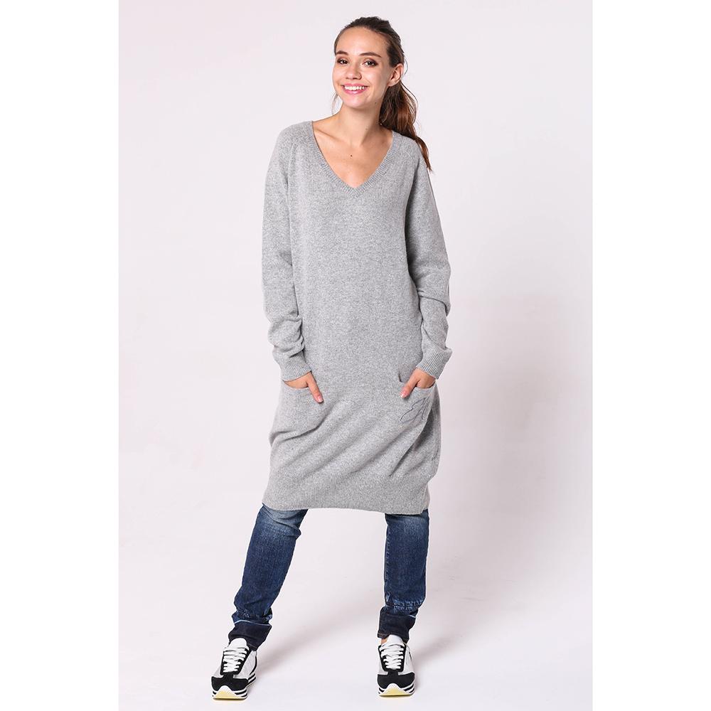 Платье-туника Emporio Armani серого цвета