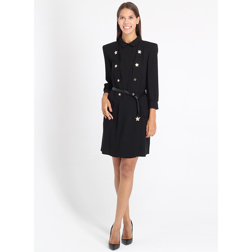 Черное платье Elisabetta Franchi черного цвета с декором-звездами