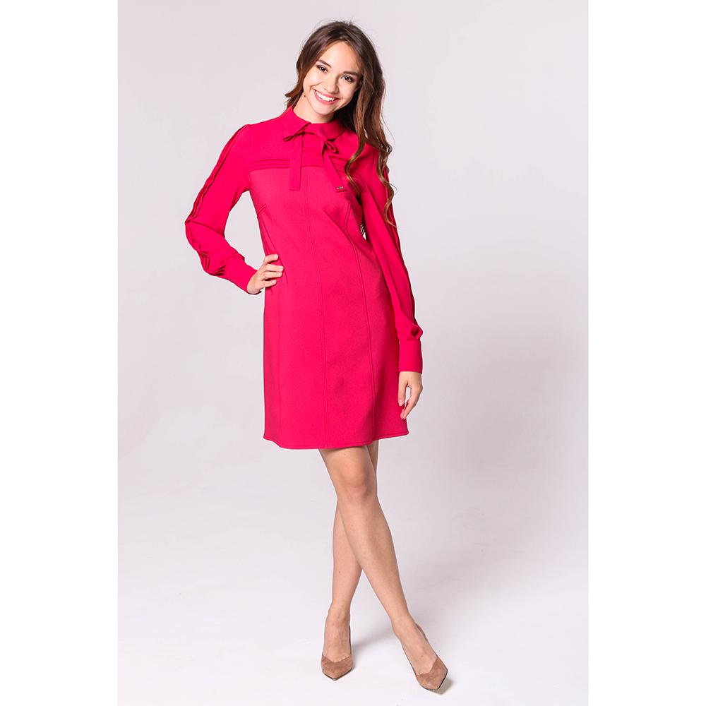 Красное платье Elisabetta Franchi с воротником