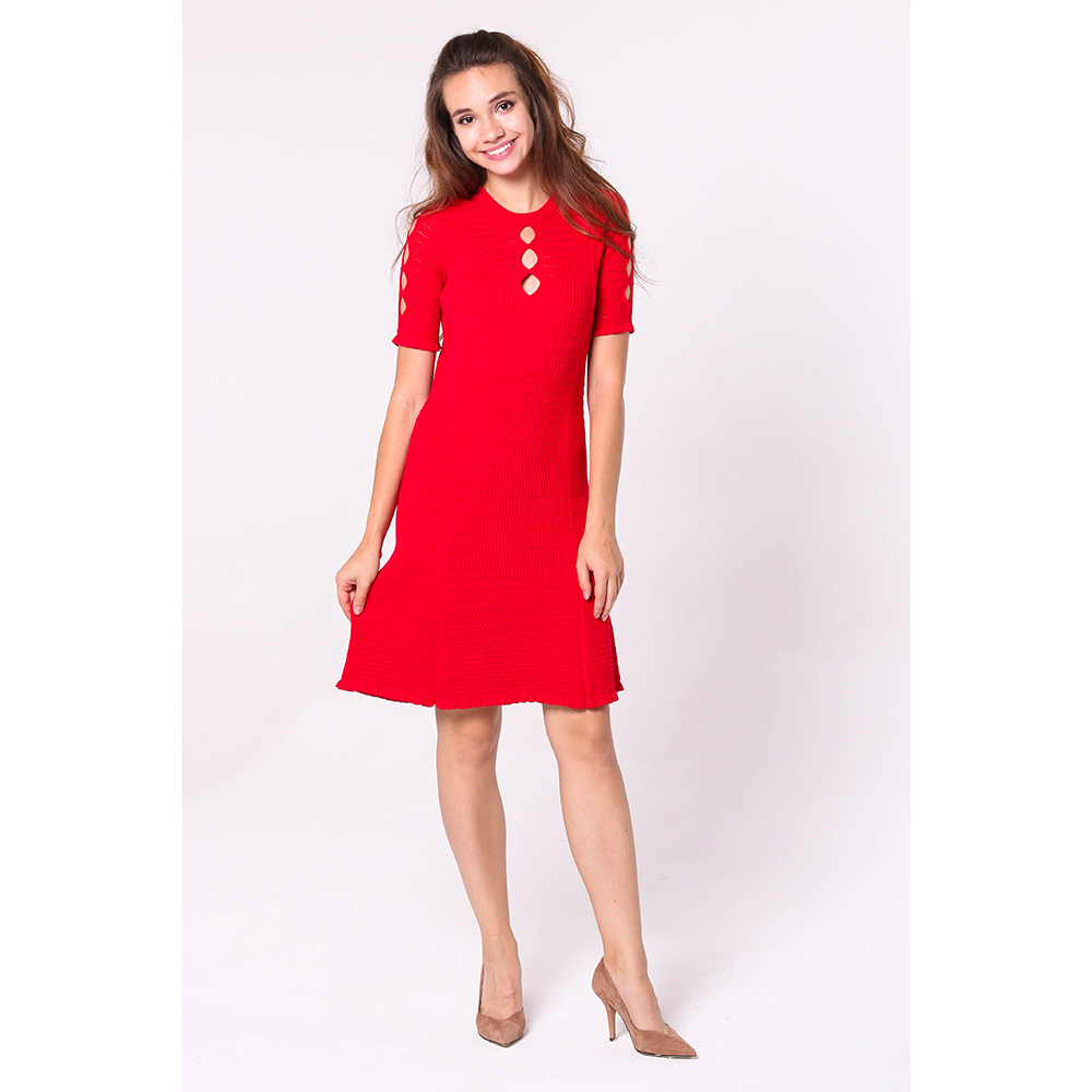 Платье Kenzo красного цвета до колен