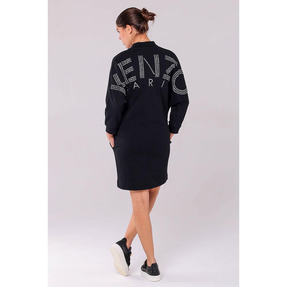 Черное платье Kenzo с рукавами летучая мышь