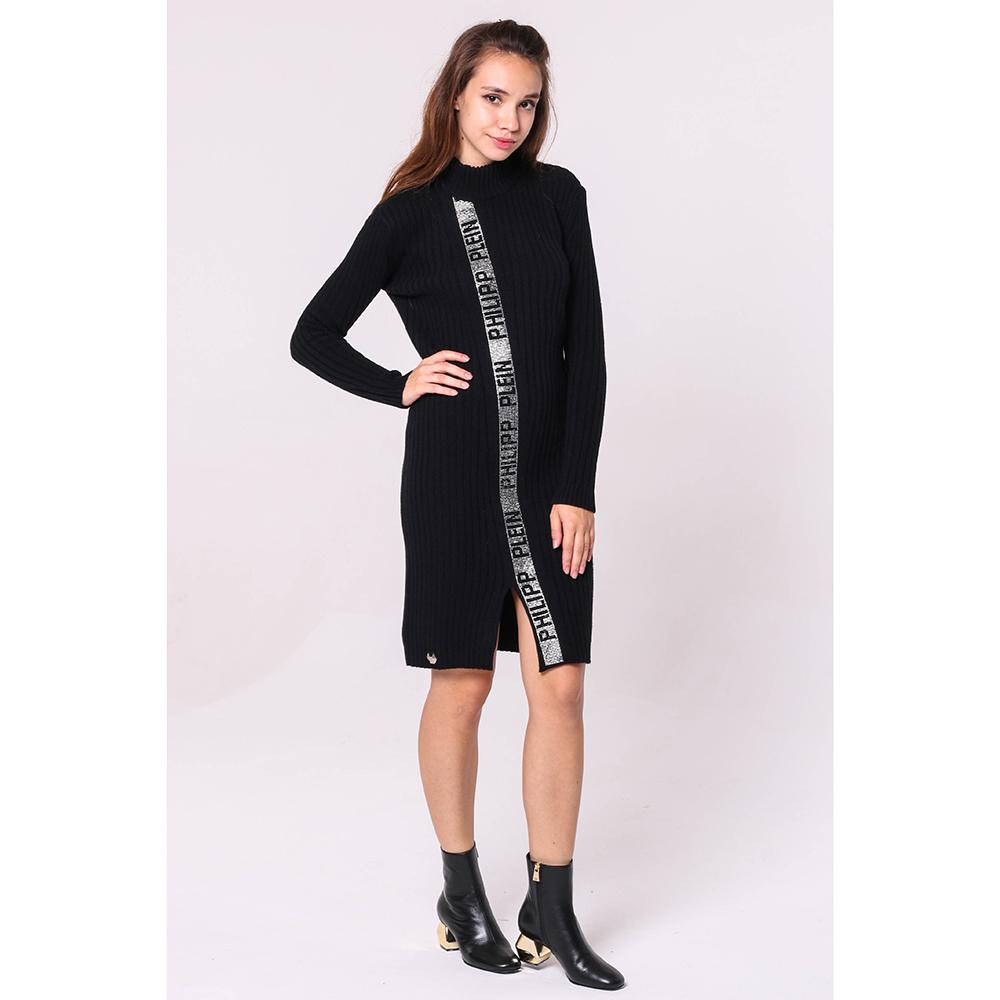 Вязаное платье Philipp Plein с декором-стразами