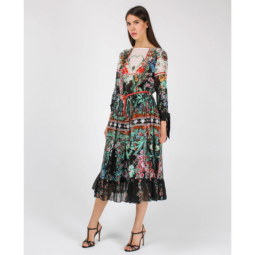 Платье-миди Cavalli Class с цветочным принтом