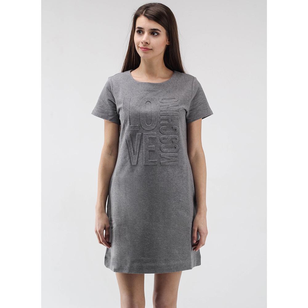 Платье-футболка Love Moschino серого цвета