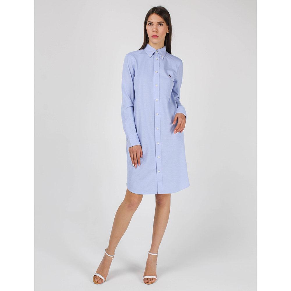 Платье-рубашка Polo Ralph Lauren голубого цвета