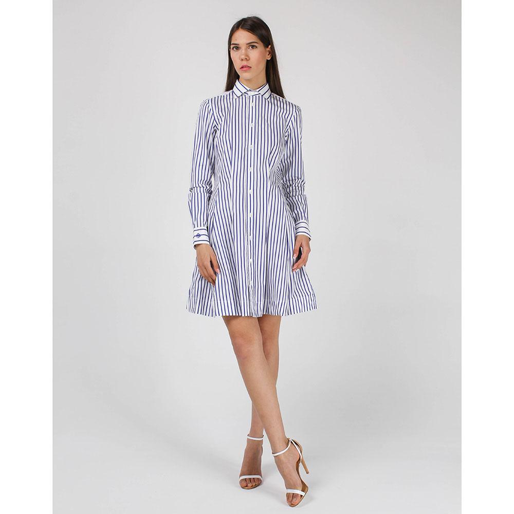 Платье-рубашка Polo Ralph Lauren с юбкой-клеш в полоску