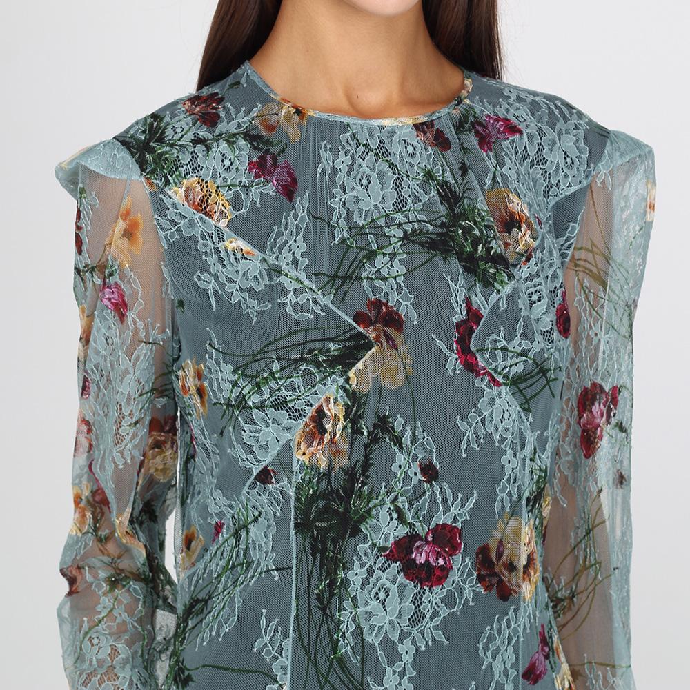 Платье-миди Blumarine из кружева с цветочным принтом