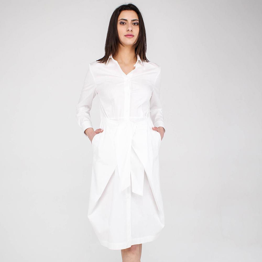 Хлопковое платье Peserico белого цвета
