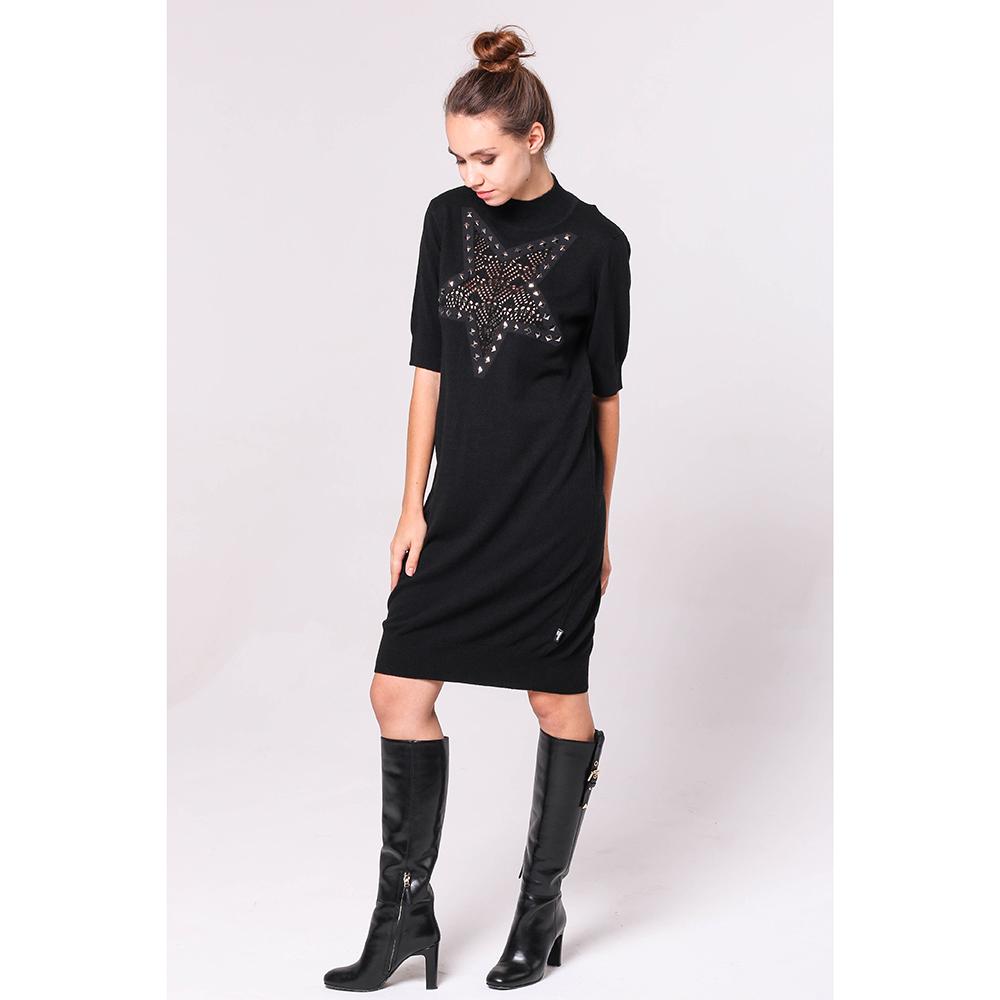 Черное платье Love Moschino с декором-звездой на груди