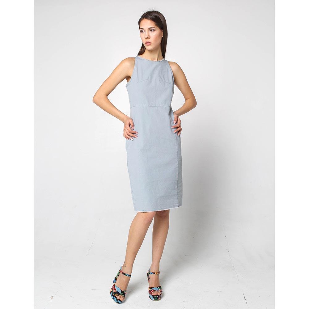 Коттоновое платье Wnderkammer голубого цвета