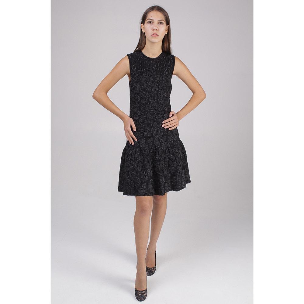 Платье черного цвета с расклешенным низом Roberto Cavalli