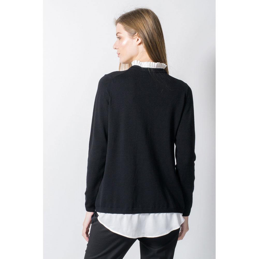 Пуловер-рубашка Sandro Ferrone  с воротиком плиссе