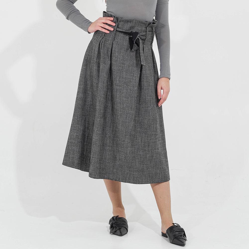 Серая юбка-миди Sandro Ferrone с завышенной талией