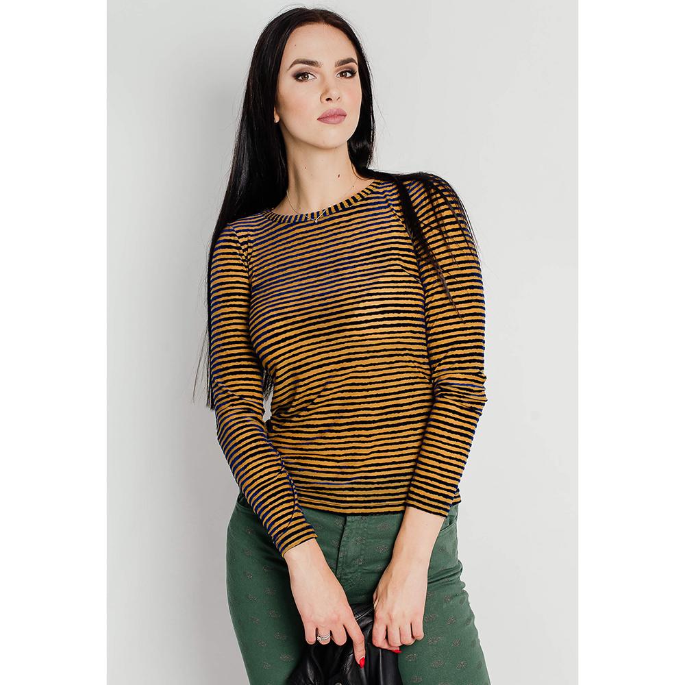 Пуловер Sonia Fortuna в желто-синею полоску