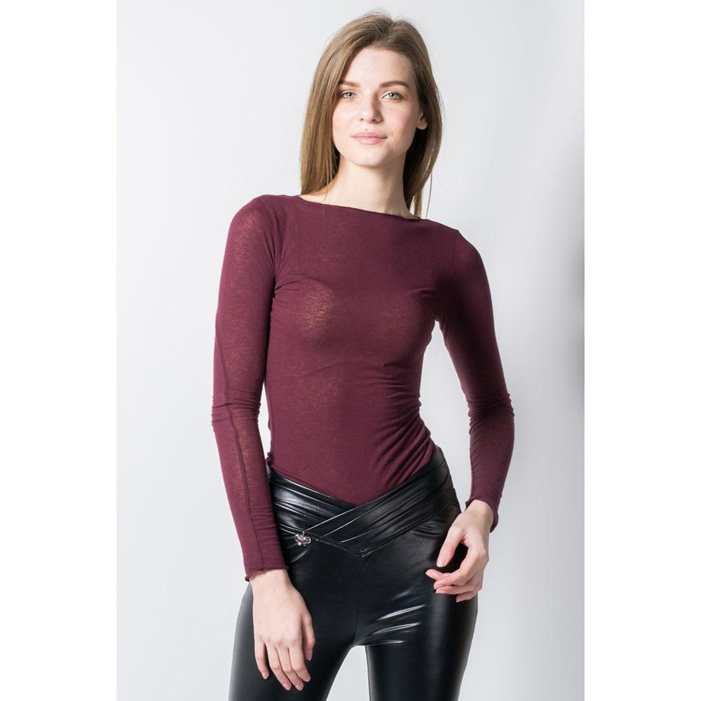 Бордовый пуловер Tensione in тонкий