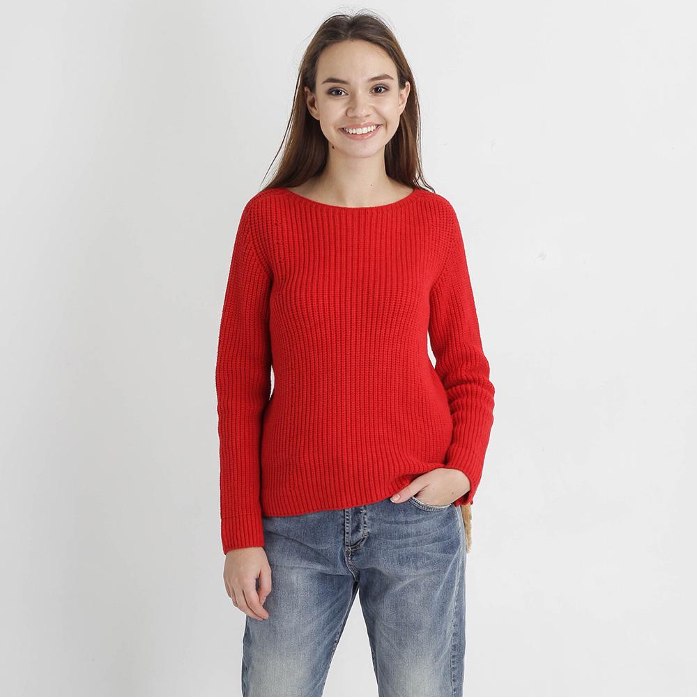 Красный свитер Tensione in крупной вязки
