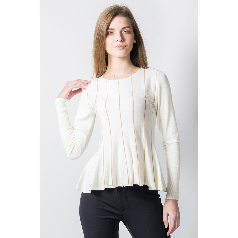 Пуловер с баской  Tensione in в полоску